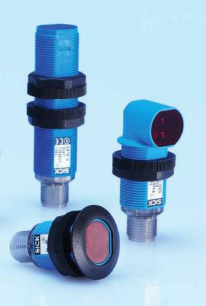 SICK西克GR18系列圆柱形光电传感器
